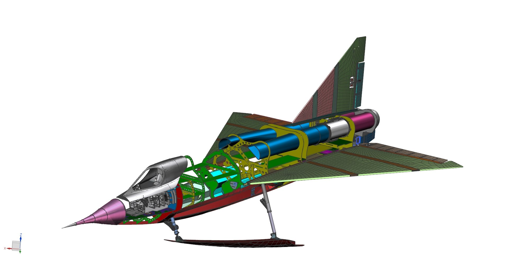 Sea Dart CAD model.