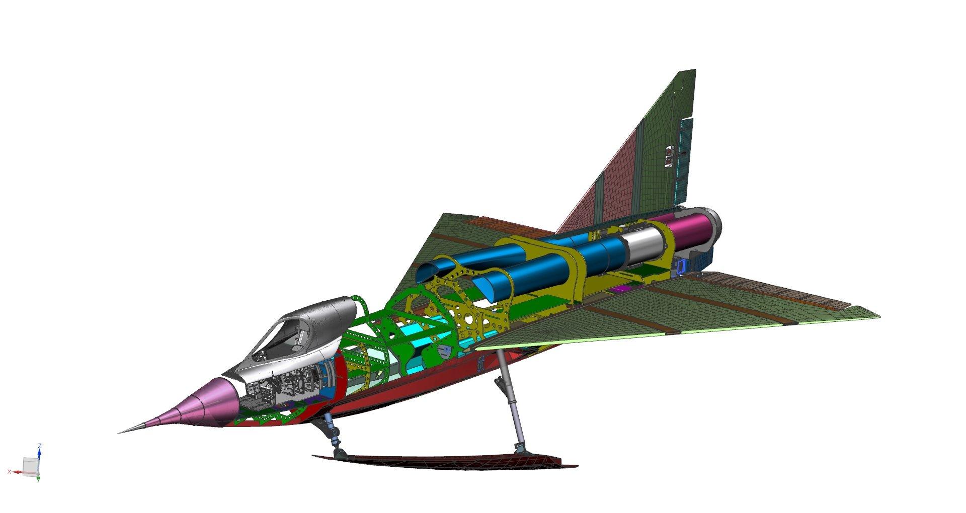 Sea Dart CAD model.